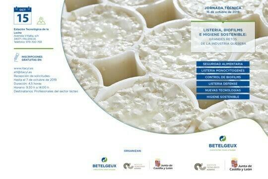 BETELGEUX-CHRISTEYNS organiza una jornada técnica sobre el control de la Listeria e higiene sostenible en la industria quesera