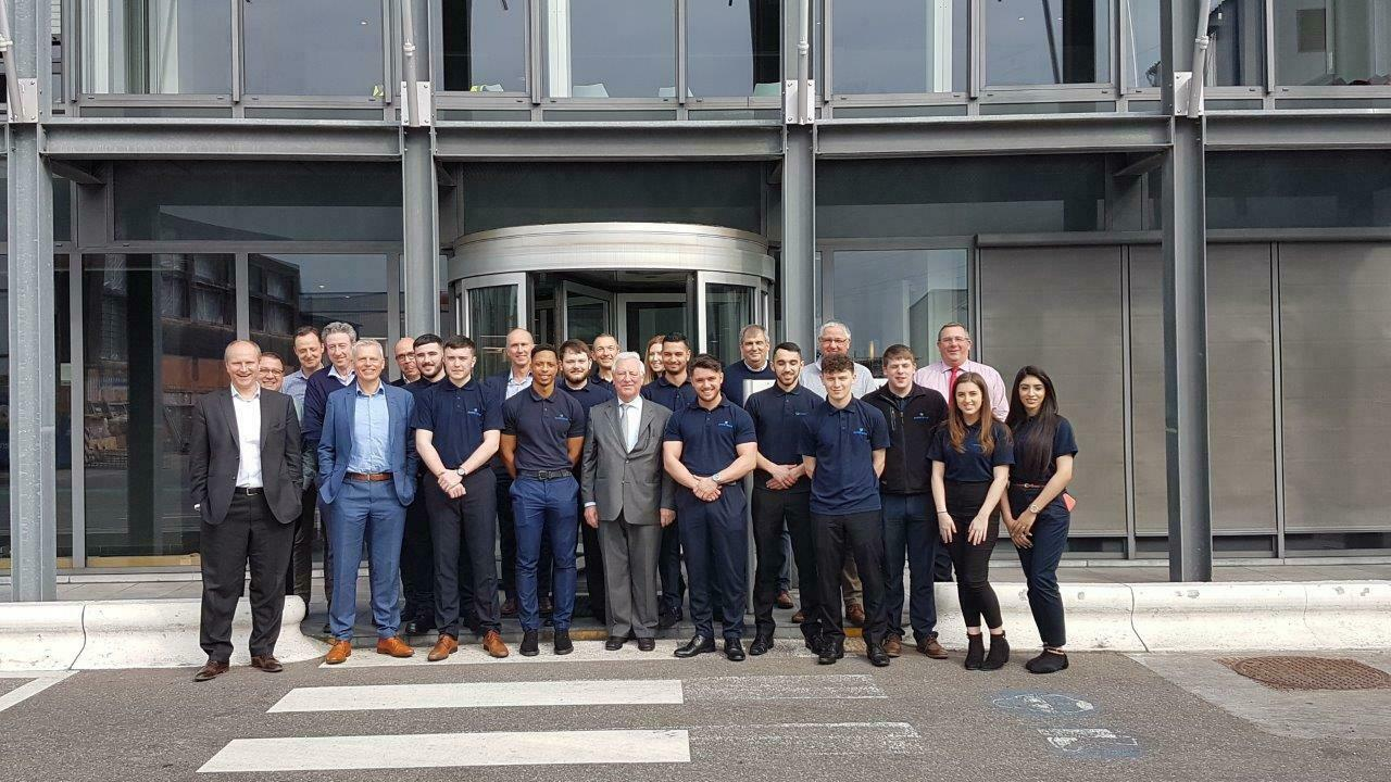 Apprentices from Christeyns UK visiting head office in Ghent- Belgium