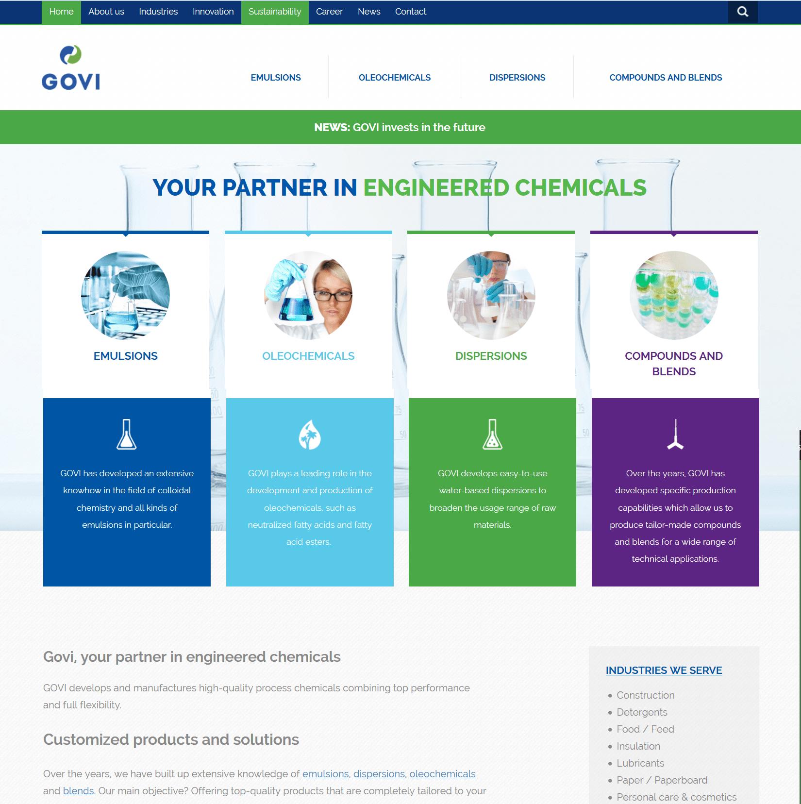 Sister company GOVI launches new website