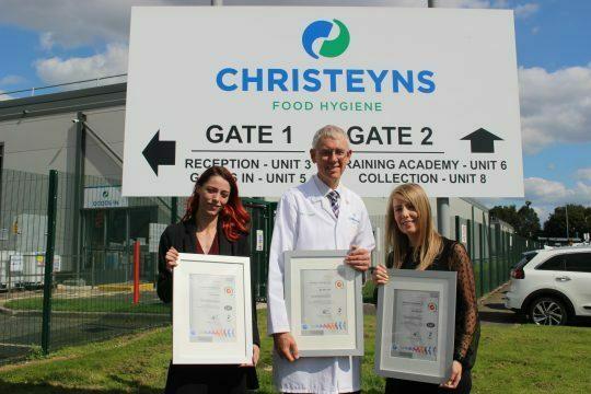 Hygiene firm celebrates triple ISO certification