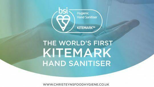 BSI kitemark a global first for Christeyns Hand Sanitiser