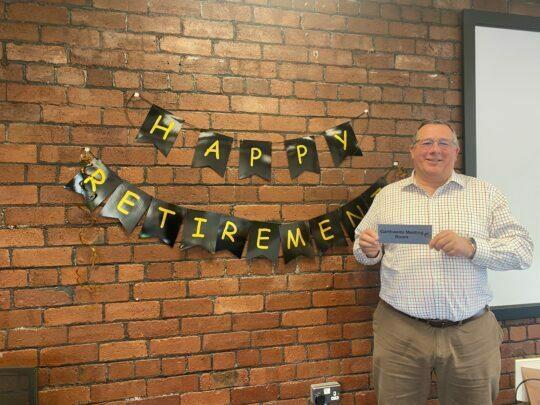 Christeyns UK's Managing Director, Nick Garthwaite retires