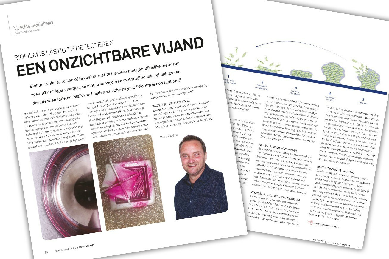 Interview biofilm Vakblad Voedingsindustrie