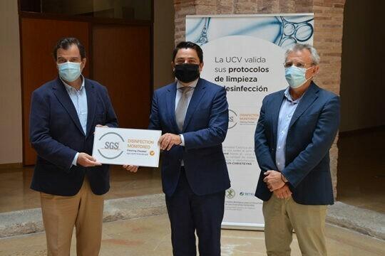 La multinacional SGS valida y certifica los protocolos de higiene de la Universidad Católica de Valencia elaborados por BETELGEUX-CHRISTEYNS