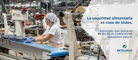 BETELGEUX-CHRISTEYNS pone el foco de su campaña social en las distintas industrias alimentarias