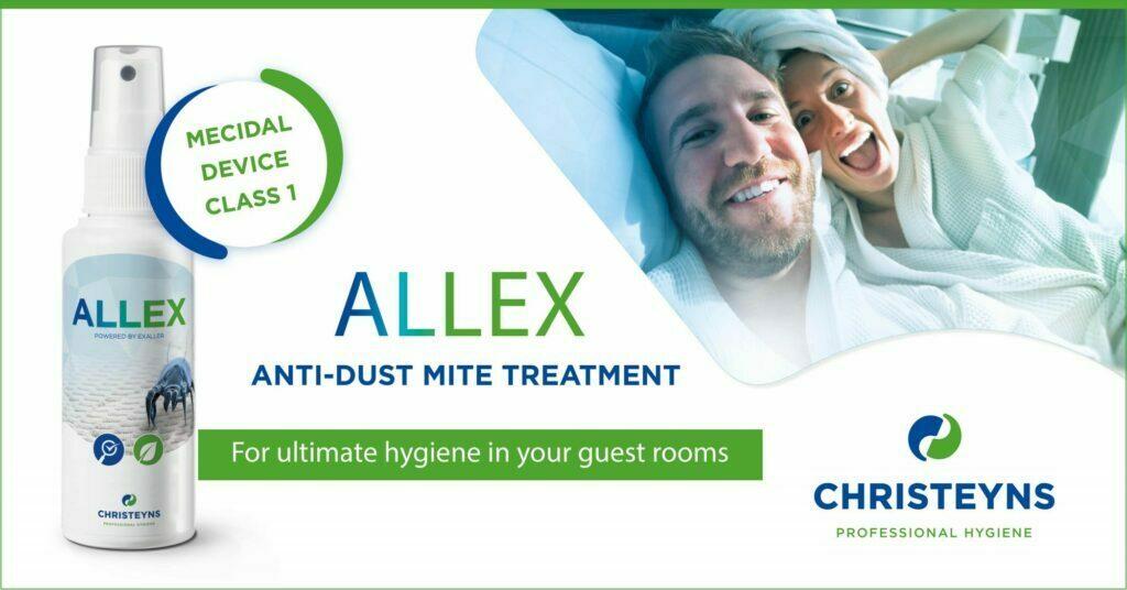 ALLEX tratamento anti ácaros - Para uma higiene adequada dos quartos de hóspedes