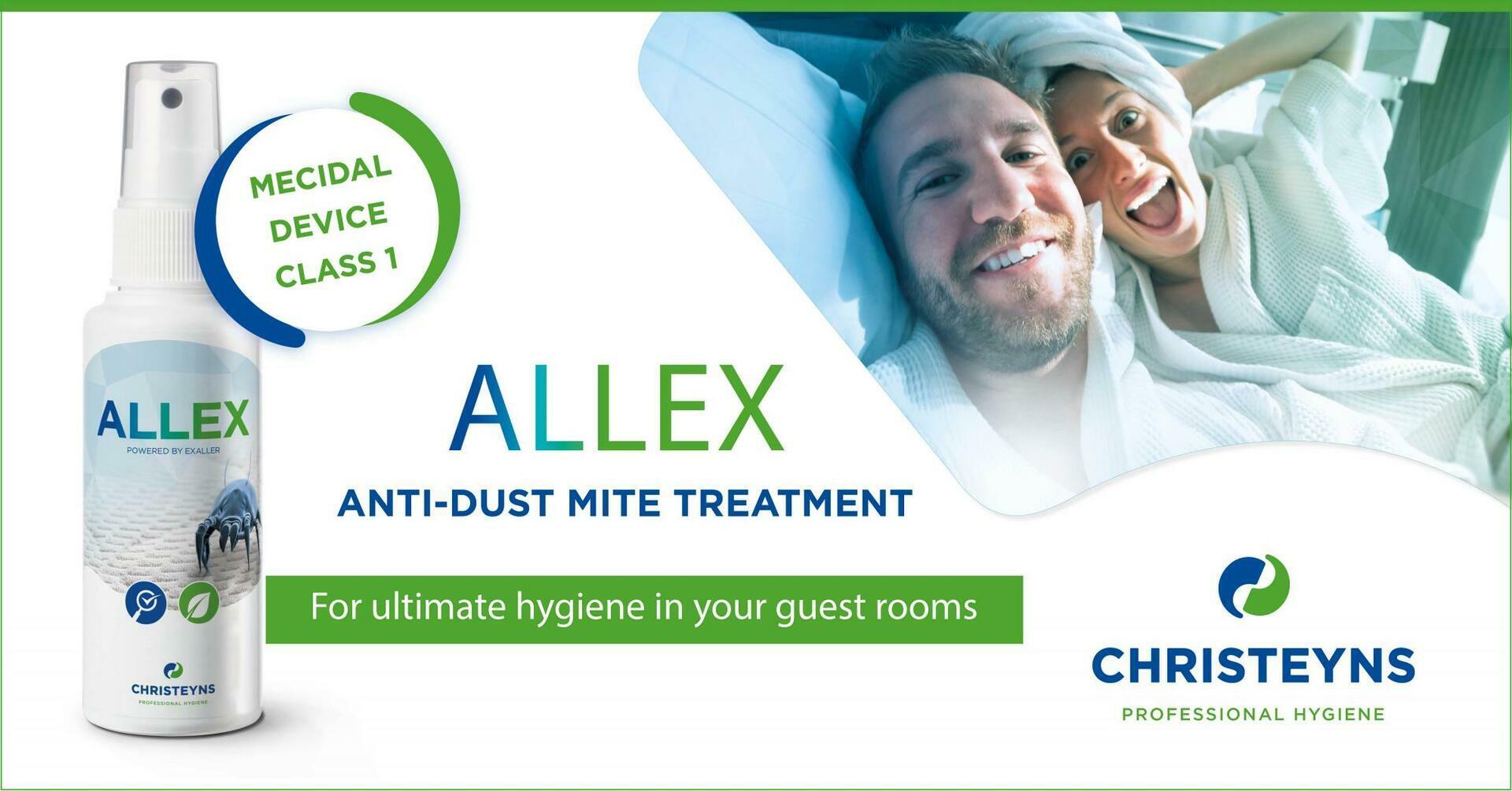 ALLEX tratamento anti ácaros – Para uma higiene adequada dos quartos de hóspedes